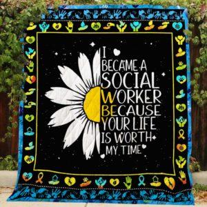 I Became a Social Worker Quilt