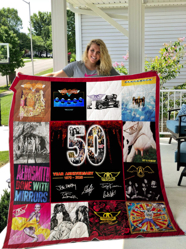 Aerosmith 50 Years Of 1970-2020 For Fans Quilt Blanket
