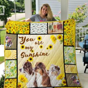 Australian Shepherd Sunshine Quilt Blanket