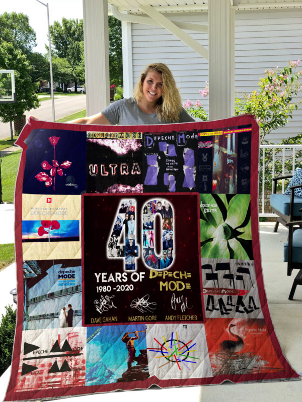 Depeche Mode 40 Years Of 1980-2020 For Fans Quilt Blanket