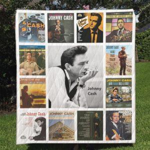 Johnny Cash Quilt Blanket Full
