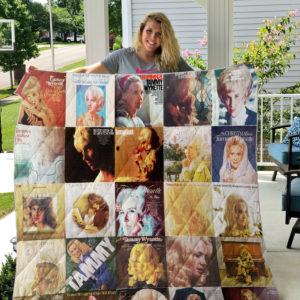 Tammy Wynette 2 Quilt Blanket