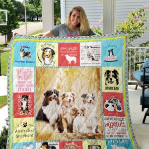 Australian Shepherd Dog Quilt Blanket