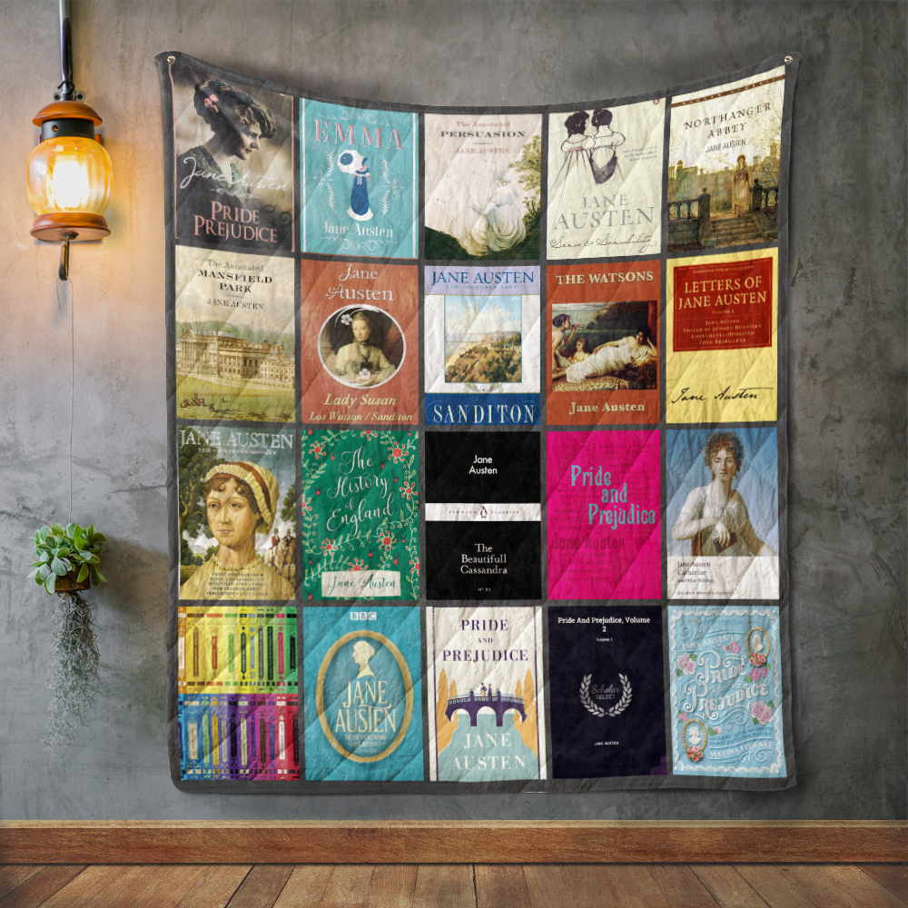 Image result for Jane Austen book quilt