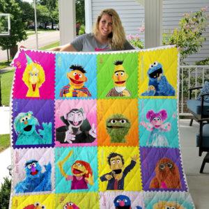 Sesame Street 3 Quilt Blanket