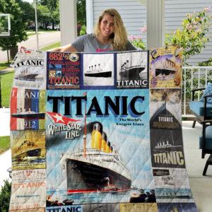 Titanic T-shirt Quilt Blanket